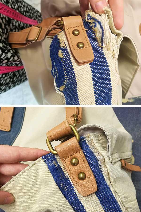 Krojački popravak platnene torbe