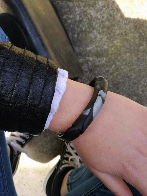 Narukvica Minimal izrađena od crne kože