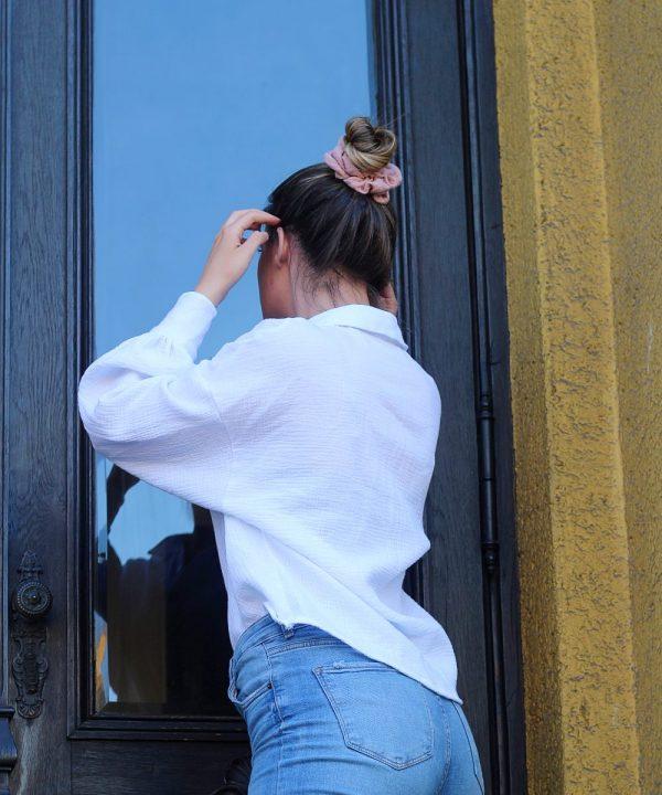 Oversize bluza od 100% prirodnog pamuka bijele boje