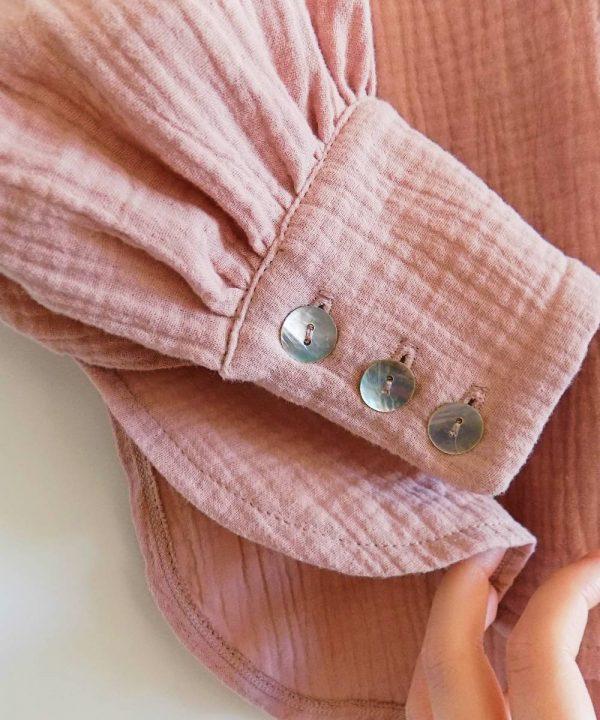Oversize bluza od 100% prirodnog pamuka roze boje