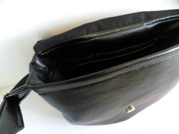 Crna ženska torba Minimal Knott od eko kože